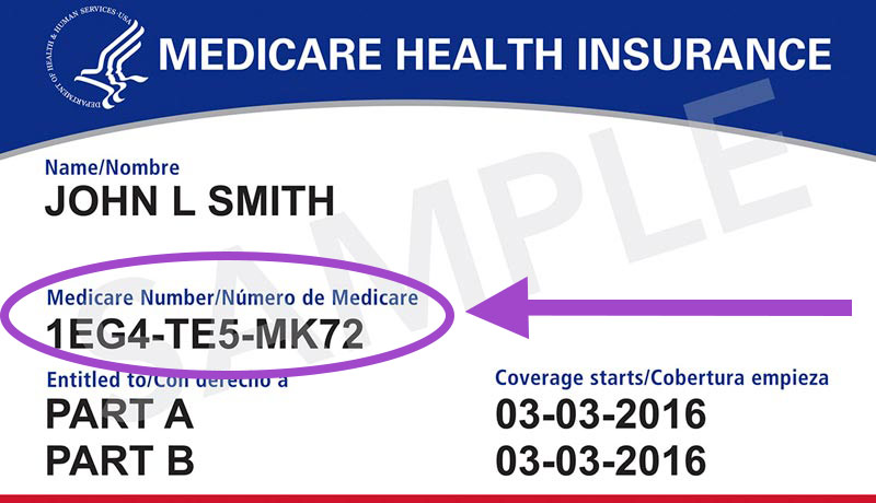 An example of a Medicare card from CMS