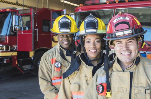Firefighters in uniform