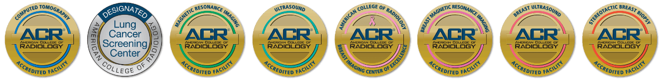 American College of Radiology Accreditation Seals