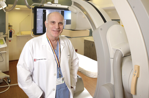 Interventional Radiology technology with staff member